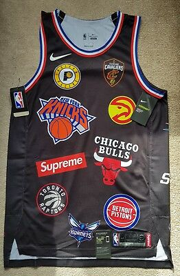 Supreme x Nike x NBA Teams Authentic Jersey Black Medium  IN HAND   SOLD beb5ebe8a