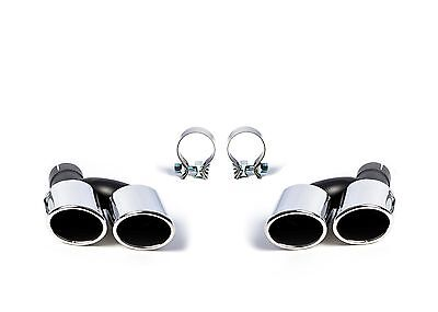 Duplex Exhaust Tail Pipes Cover Exhaust Fits Audi A6 S6 RS6 4B 4F 4G