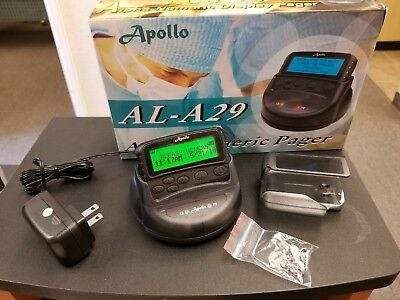 Apollo Gold Alpha Pager Hand Programmable Re Pocsag Rechargeable  460-470MHZ