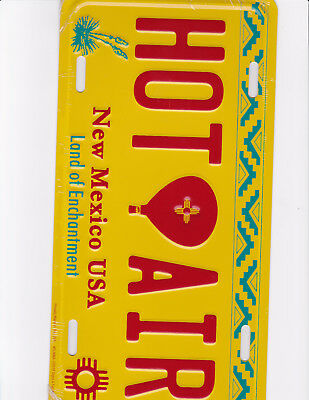 brand new metal license plate HOT AIR BALLOON New Mexico USA land of enchantment