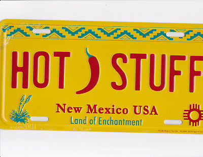 brand new metal license plate HOT STUFF New Mexico USA land of enchantment