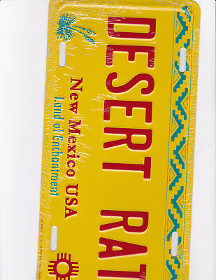 brand new metal license plate DESERT RAT New Mexico USA land of enchantment