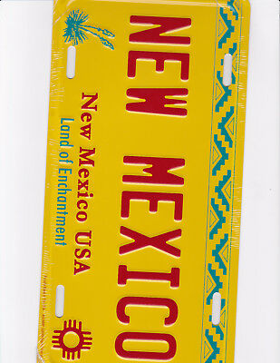 brand new metal license plate NEW MEXICO  NM made in the USA land of enchantment