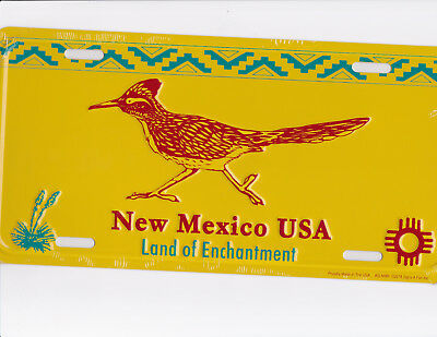 brand new metal NM license plate ROAD RUNNER made in the USA land of enchantment