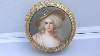 Gorgeous 19th Century Royal Vienna Style Portrait Dore Bronze Box Signed Wagner