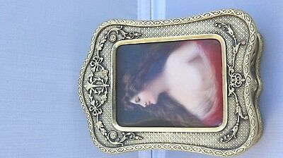 UNUSUAL 19th Century Royal Vienna Style Asti Portrait Bronze Box Signed Wagner