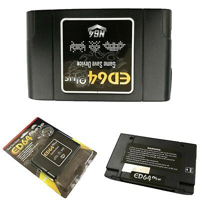 Cartridge Adapter ED64 Plus Game Save Device for N64 Console with 8GB SD Card