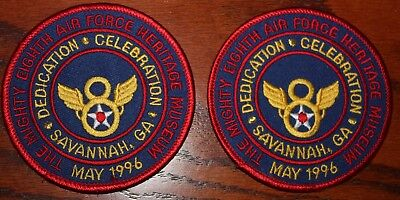 Two 8th Air Force Heritage Museum Dedication Patches from 1996