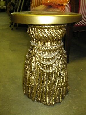 """18"""" Gold Ornate Pedestal or Plant Stand"""