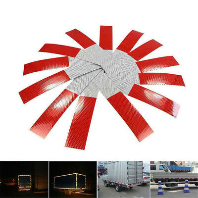 EE_ 10Sheets Car Truck Warning Reflective Film Safety Tape Sticker Reflector Bea