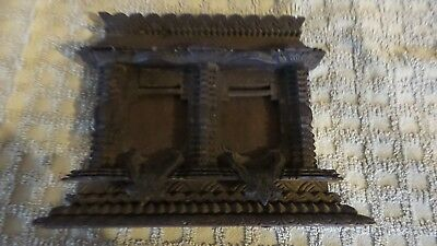 ANTIQUE CARVED BLACK FOREST ORNATE LAYERED Wood Picture Frame FOR TWO