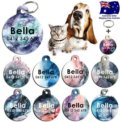 Metal Personalized Pet cat dog Tag Custom Plant ring Name Tags Abstract