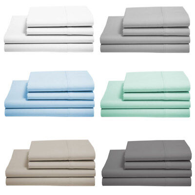 Soft Microfibre Fitted Sheet Set 90GSM Microfiber - Single, Queen and King Size