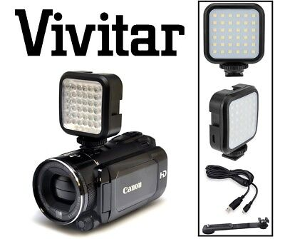 Rechargeable LED Light Set With Kit For Canon Vixia HF R800 R82 R80 GX10