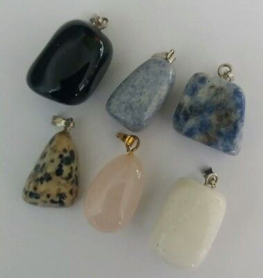 Wholesale Lot Of 6 Pendants High Quality Natural Stone Mixed Lot