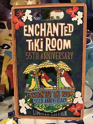 Disneyland Enchanted Tiki Room 55th Anniversary JOSE BIRDS Disney LE pin