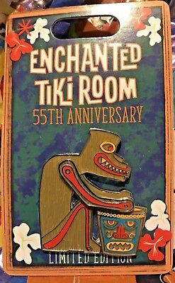 Disneyland Enchanted Tiki Room 55th Anniversary Drummer Gods Statue Disney pin