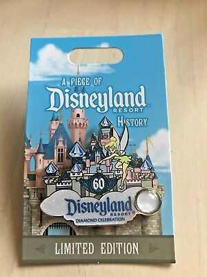 Disney Disneyland 60th Diamond POH Piece of History LE PIN Castle Tink
