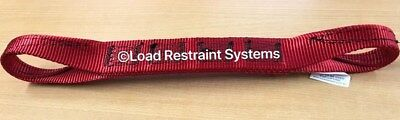 (4 Pack) Red Aus Manufactured Car Carrying Strap With Loops, Wheel Strap, Towing