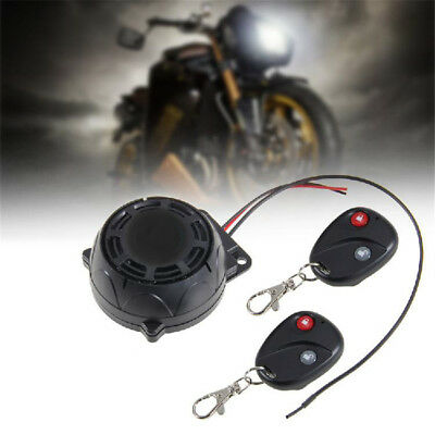New 120-125DB Motorcycle Remote Alarm Anti-theft Security System Vibration Lock