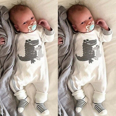 Cotton Newborn Baby Boy Girl Cartoon Romper Bodysuit Jumpsuit Outfits Clothes