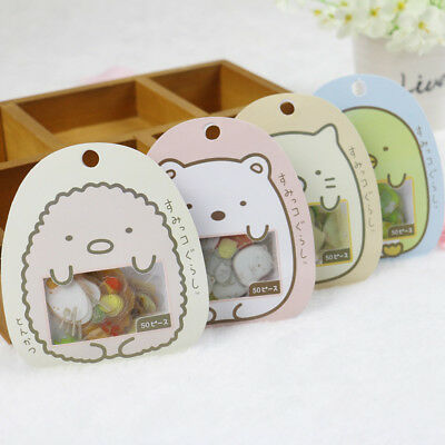 50Pcs Cute Cartoon Japanese Sumikko Gurashi Sticker Anlimals Scrapbooking DIY