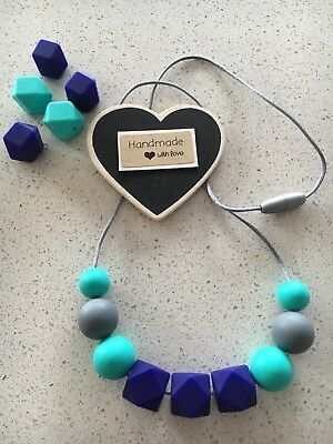 Silicone Sensory Necklace for Mum (was teething) Gift Beads Aus Sell nursing