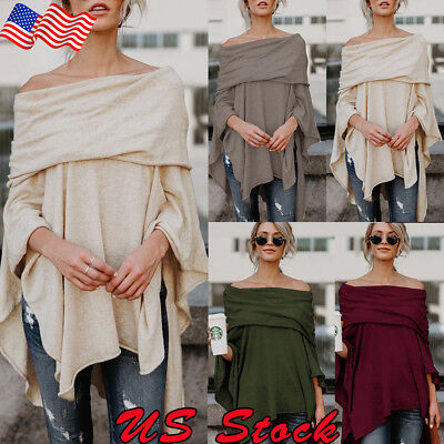 Off-The-Shoulder Asymmetrical Fashion Women Tops Office Shirt Blouse Casual Tank