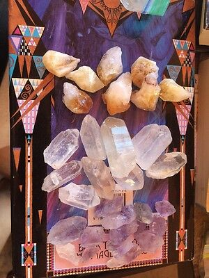 Crystal Collection 1/2 Lb Lot Natural Points & Blades Amethyst Quartz Citrine