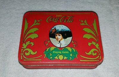 Vintage Coca Cola Playing Card Tin Only 1980