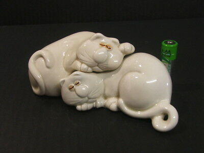 1970's Fitz and Floyd Cat Nap sleeping Cats Salt and Pepper shakers