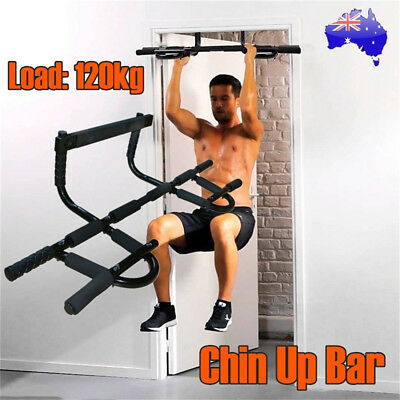 Door Chin Pull Up Bar Portable Home Gym Exercise Workout Fitness Power Training