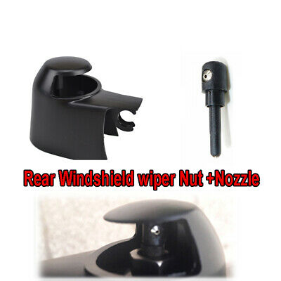 Rear Windscreen Wiper Arm Cap Nut Washer Cover Jet Nozzle Kit Fit For VW Skoda