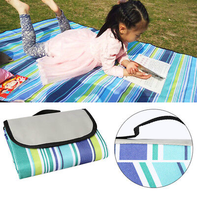 Extra Large Picnic Blanket Rug Waterproof Beach Mat Folding Outdoor Camping AU