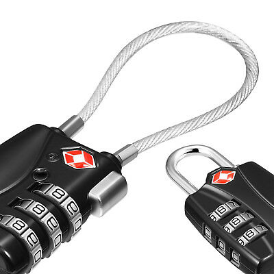 Luggage Lock TSA Coustoms Lock 3-Digit Combination Password Suitcase Padlock