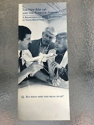 """RARE Brochure: """"The New BAe 146 and the Burbank Airport"""" - Excellent condition"""