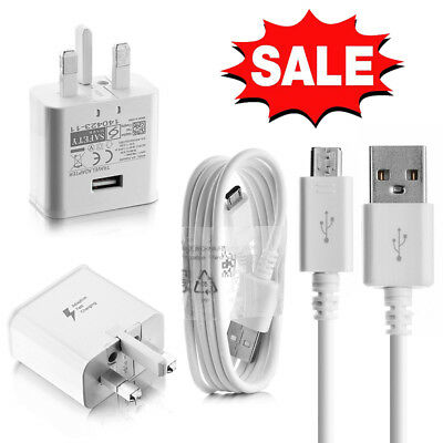 Genuine Wall Charger Plug & Cable For Samsung Galaxy S7 Edge S6 S5 Note 4 5 A3