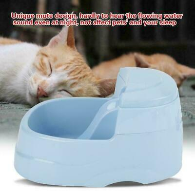 Pet Waterfall Fountain For Cat Dog Automatic Food Bowl Dish Feeder Dispenser
