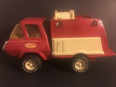 """Vintage 1960s Tonka Fire Truck Pressed Steel 9.5"""" Free Shipping"""