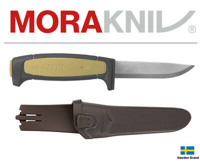 Morakniv Fixed Blade Knife Basic 511 Tan Carbon Steel With Sheath 02208