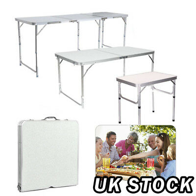 2/4/6FT Portable Trestle Folding Table Camping Picnic Outdoor Garden Heavy Duty