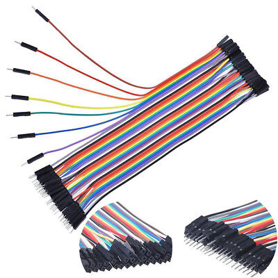 40x Dupont Wire Jumpercables 20cm 2.54MM Male to Female 1P-1P Arduino HL509-508