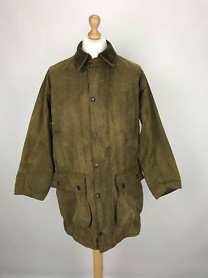 Vintage Barbour A825 Classic Northumbria Waxed Country Jacket Coat C40/102 Brown