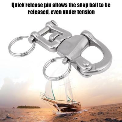 "2-3/4"" Jaw Swivel Snap Shackle Stainless Steel for Sailboat Spinnaker Halyard BT"
