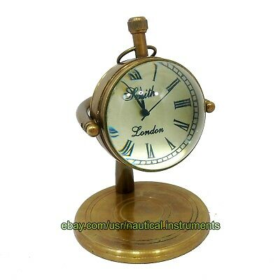Brass Smith London Table Desktop Nautical Clock Home Decor