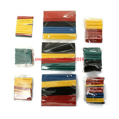 CA Test 328pc 2:1 Heat Shrink Tubing Tube Sleeve Wrap Wire Assortment 8 Size lot