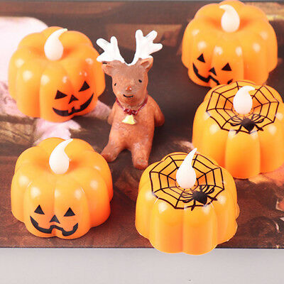 Halloween LED Light Pumpkin Lamp Holiday Party Home Table Desk Decoration Prop