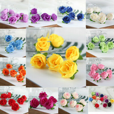Lots 10-100X Artificial Rose Silk Flowers Head Wedding Party Home DIY Decoration
