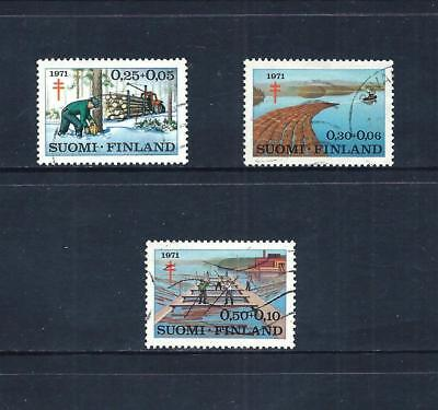 FINLAND _ 1971 'TUBERCULOSIS FUND' SET of 3 _ used ____(543)