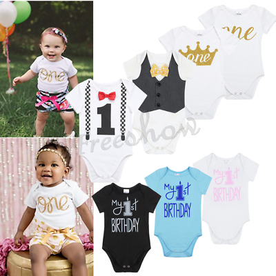 Infant Baby Boys Cotton Romper Birthday Bodysuit Jumpsuit Outfits Party Casual